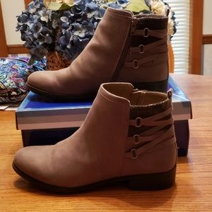 Brown Ankle Boots with Lacing Detail